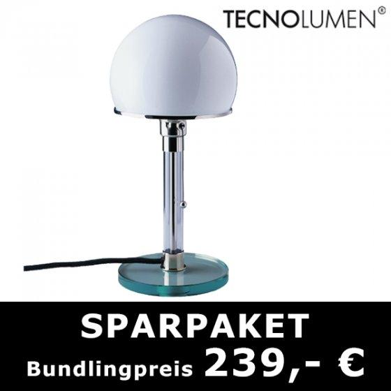 Wagenfeld WG24 Tischlampe - Bauhauslampe (-34% günstiger als idealo)!