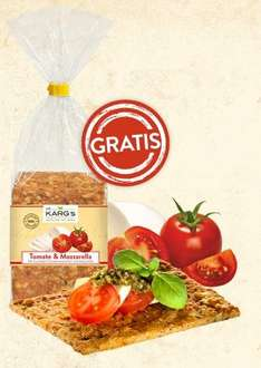 Probepackung Knäckebrot - Sorte Tomate & Mozarella