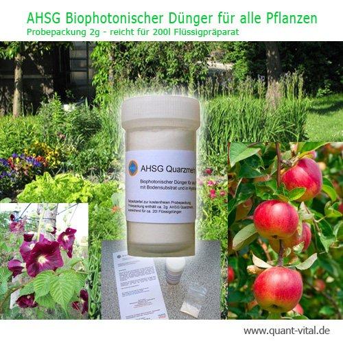 Promoaktion - kostenlose Kennenlern-Packung 2 g AHSG - Quarzmehl  Bioduenger
