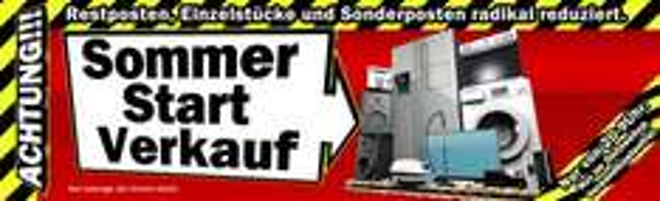 Sommer Start Verkauf bei Media Markt - Restposten und Einzelstücke stark reduziert + Versandfrei