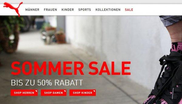 Puma Summer Sale bis 50% rabatt !!! ONLINE