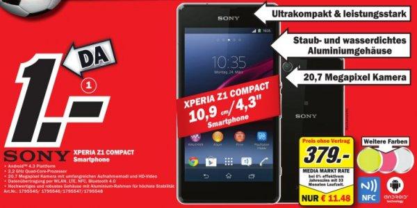 [Lokal] Sony Xperia Z1 Compact verschiedene Farben für 379€ @Media-Markt (Berlin-Brandenburg)