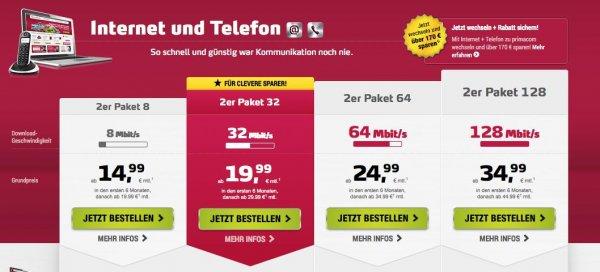 [REGIONAL] primacom bis 89,90€ Onlinevorteil auf Kombiflats ab 19,99€ + bis zu 75€ Cashback @aklamio