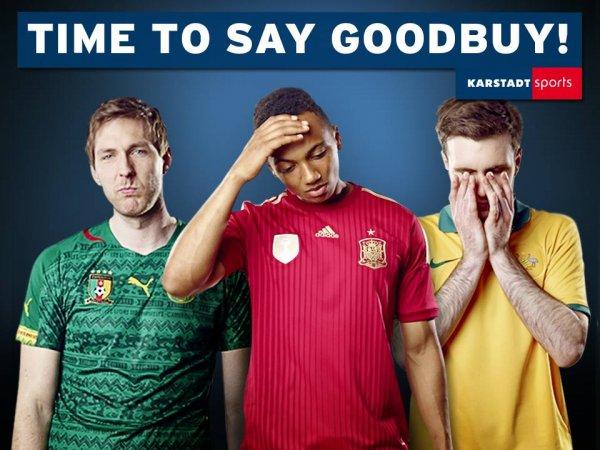 Karstadt Online - 50% auf Trikots der ausgeschiedenen Teams[WM]