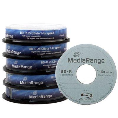 MediaRange BD-R 25GB 4x - 100 Stk + MediaRange BD-R Dual Layer 50GB 6x - 1 Stk Gratis @ CDRohlinge24