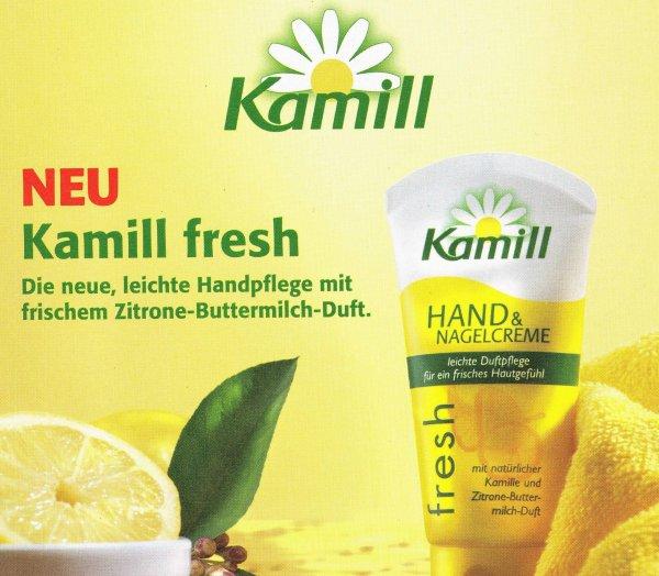 [MÜLLER BUNDESWEIT] Kamill fresh - Kamille + Zitrone-Buttermilch-Duft Hand- & Nagelcreme (54% Rabatt) ??Nur noch bis Sonntag!