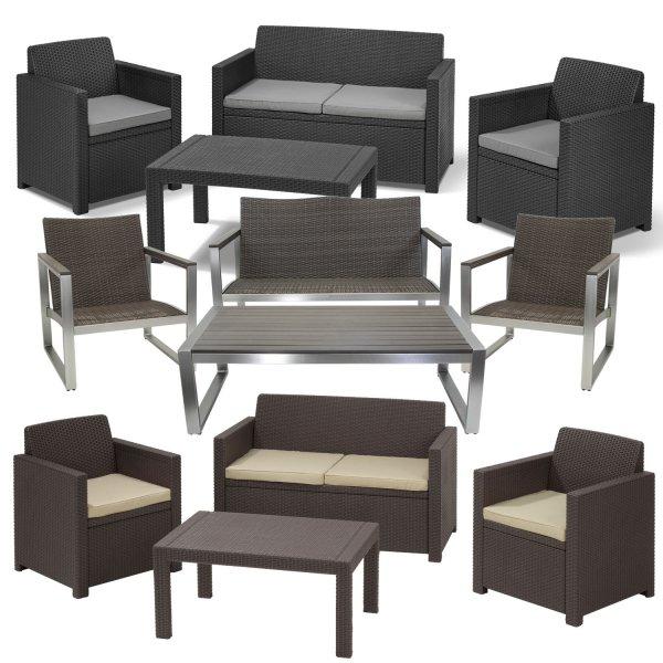 Lounge Set Riviera oder Merano Gartenlounge Sitzgarnitur Sitzgruppe Gartenmöbel  @ebay 199€