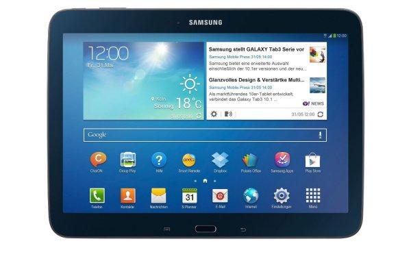 """Samsung™ - Galaxy Tab 3 10.1 WiFi """"P5210"""" (Schwarz,Weiß) für €189.- [@MeinPaket.de]"""