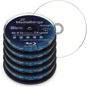 Mediarange BD-R DL 50 GB [6x + fullprintable] - 50 Stück - 84,94€ inkl. Versand