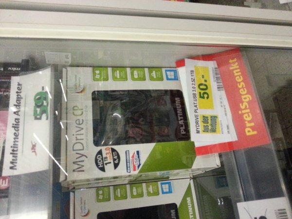 "[Lokal Marktkauf Wunstorf] Platinum MyDrive CP 1 TB USB3.0 2,5"" 50 €"