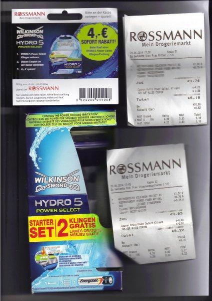 [ROSSMANN bis Freitag] Wilkinson Sword Hydro 5 Power Select Rasierer mit 3 Klingen für 4,76 € / 4,29 €