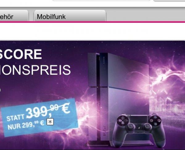 PS 4 für 299,00 € bei Telekom