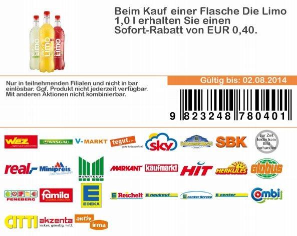(real) Die Limo (Granini) für 1,19€ - 0,40€ Gutschein - 0,70€ scondoo = ab 0,09€ / 0,49€ ohne Coupon