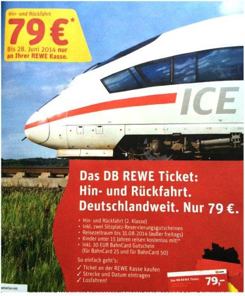 Bahntickets bei Rewe für 79 Euro im Angebot  Günstig kurzfristig Bahn fahren