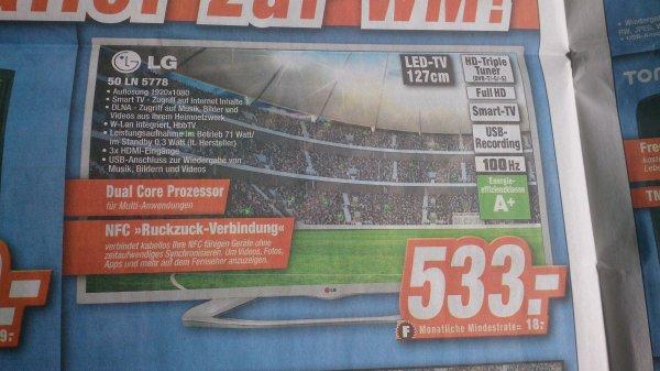 LG 50 LN 5778 Smart TV für 533,00 € bei den Experten