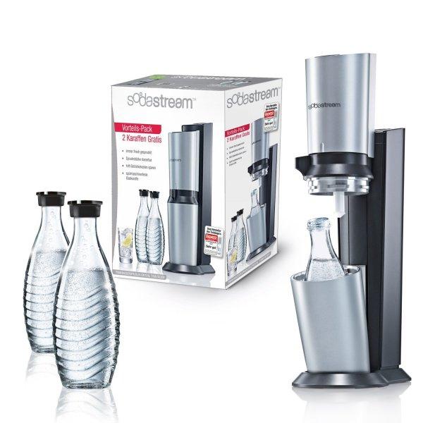SodaStream Crystal mit 3 Karaffen + Co2 Zylinder bei Fegro