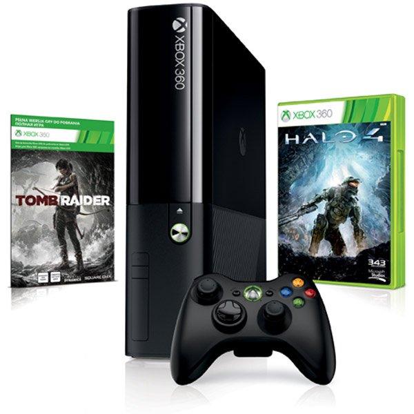 Xbox 360 Slim (E) 250 GB Bundle mit Tomb Raider und Halo 4 (Amazon WHD)