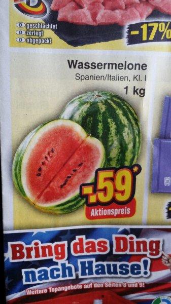 Wassermelone pro Kilo @Netto ohne Hund
