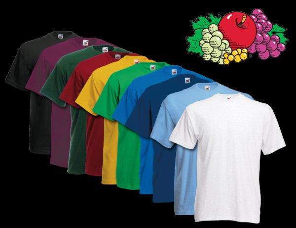 TOP 10x FRUIT OF THE LOOM Kinder und Erwachsenen T-Shirts viele Farben und Sets