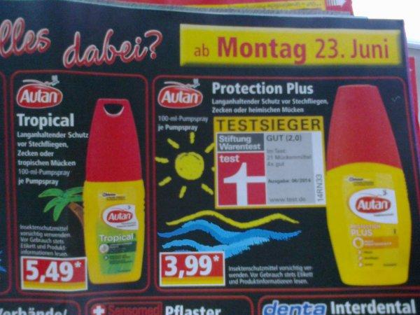 [Norma] ab 23.06.2014: Autan Protection Plus Insektenschutz für 3,99 Euro
