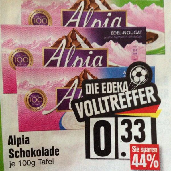 Alpia Schokolade 0,33 € EDEKA Südbayern
