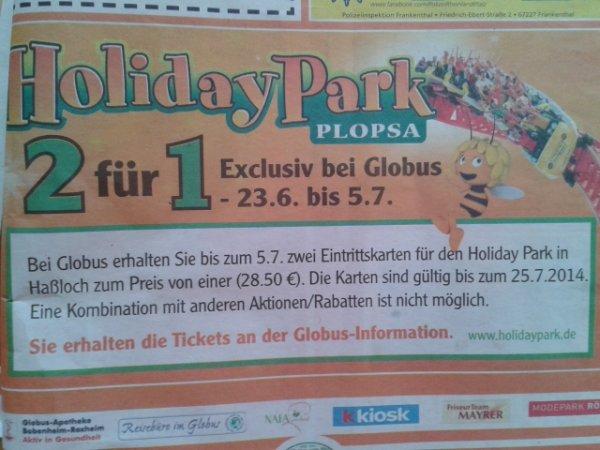 2 für 1 holiday park eintritt 14,25 (28,50 € zusammen)