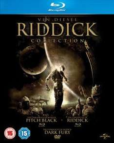 (UK) Riddick Collection  (Pitch Black, The Chronicles of Riddick: Dark Fury and The Chronicles of Riddick) 3 x Blu-ray für 11,25€ @Zavvi