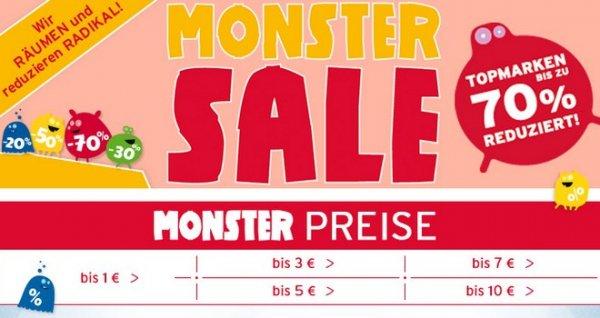 Monster Sale bei Baby Walz, bis 70% auf allerlei Spielzeug und Kleidung (Adidas, bellybutton, Bornino)