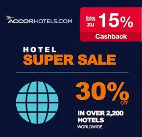 Accor Super Sale: bis zu 40% Rabatt auf 2.000 Hotels vom 11.07.– 07.09.2014 + bis zu 15% Cashback von Qipu