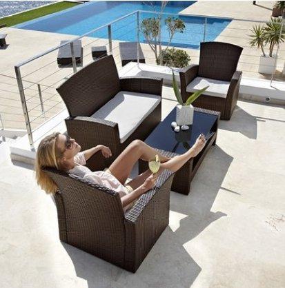 """Loungeset Poly Rattan """"Formentera"""" für 199€ @Baur"""