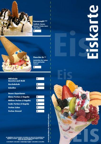 Eiskarten für Cafés für € 1,- (statt 1,99 €) inklusive Versandkosten