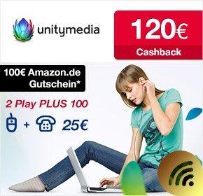 Unitymedia - 2play 100 Mbit für 510€ für 24 Monate (effektiv 21,25€ mtl.)