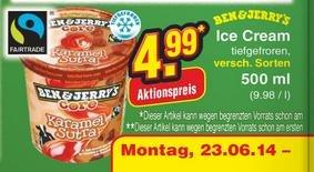 [NETTO] Ben & Jerrys Ice Cream 500ml für 4,99€ Angebot bei Netto