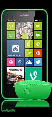 Lumia 630 + Blutooth Lautsprecher mit kleinem Vertrag für effektiv 3,42 Euro
