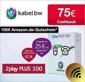 2play Plus 100 Mbit/s - Unitymedia (KabelBW) für 555€ (23,13€ mtl.) oder Neukunden (21,05€ mtl.)