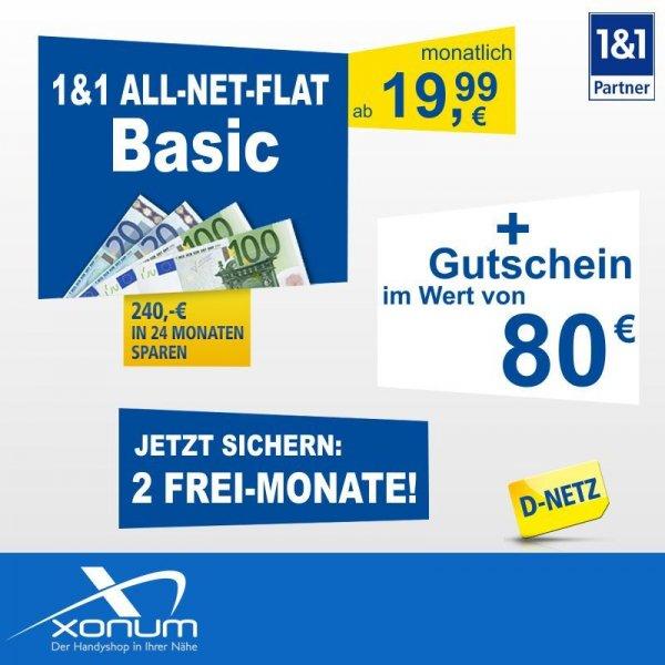 1&1 All-Net-Flat + 80,- Euro Gutschein