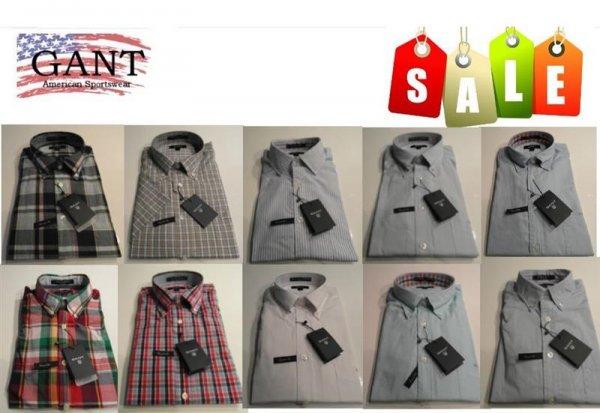 Details zu  Original GANT Hemden Oxford Pinpoint Karo Uni Grosse Auswahl S- XXXXL NEU