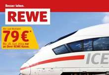 REWE: Bahntickets 2014 für 79 Euro im Angebot