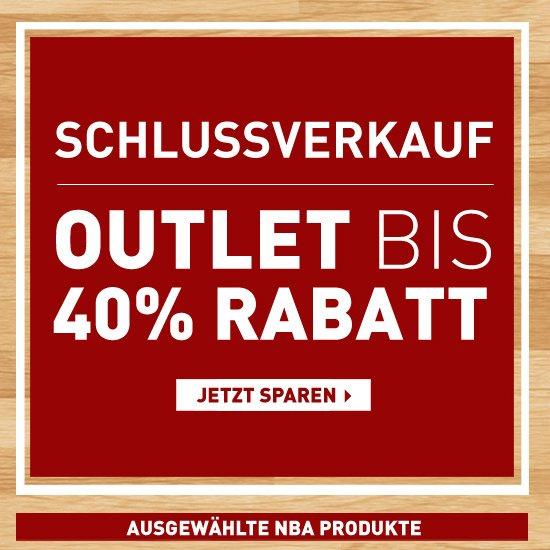 NBA STORE EU - Schlussverkauf! NBA Outlet bis 40% Rabatt + 15% vom Newsletter