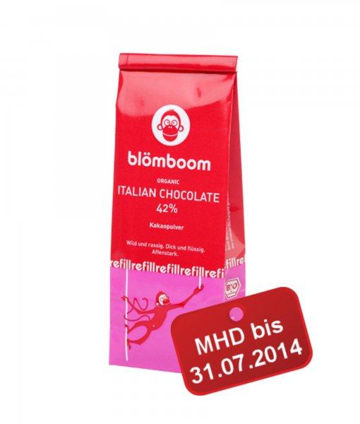 BLÖMBOOM – ITALIAN CHOCOLATE 42% (250G BEUTEL) KURZES MHD für 3,95€ anstatt 5,95€