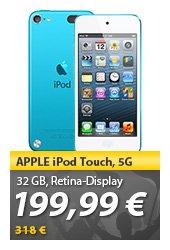 Apple iPod Touch 5G 32GB @ meinpaket.de (NUR HEUTE!)