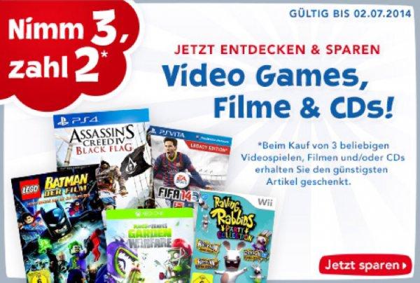 [Toys R Us] Nimm 3, zahl 2 auf alle online verfügbaren Games, Filme + CDs (