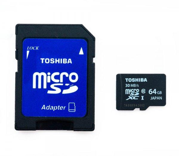 Toshiba MicroSD 64GB Class 10 für 25.55 Euro