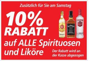 real,- bundesweit: Nur Samstag: 10% auf Spirtuosen! Jack Daniels 14,39 / Smirnoff 7,99 und weitere...