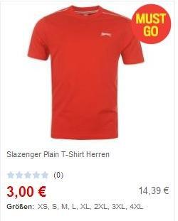 Slazenger und Donnay T-shirts ab 3€