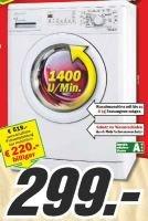 BAUKNECHT Waschmaschine WA CHAMPION 64 für 299,- + Alternative von BOSCH für 399,-