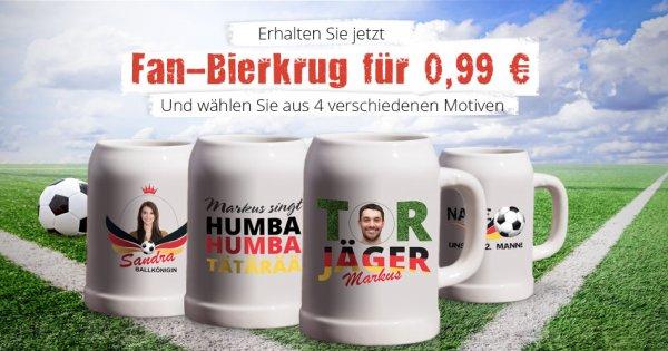 [myprinting]Bierkrug mit WM-Motiv oder eigenem Foto (-3,00€ = 2,94€ mit QIPU möglich)