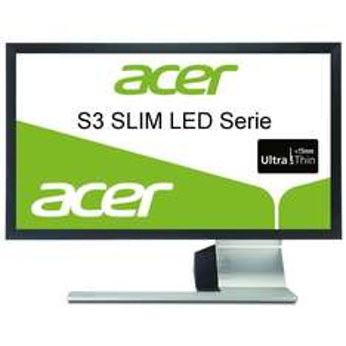 Acer S243HLAbmii 61 cm (24 Zoll) slim LED Monitor (VGA, HDMI, Kontrast 12.000.000:1, 2ms Reaktionszeit) schwarz