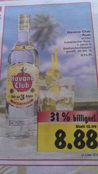 [Lokal] Havanna Club bei Kaufland für 8,88 Euro / 31% Ersparnis!!