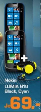 ( Saturn Super Sunday) Nokia Lumia 610 Smartphone + NOKIA Boom Headset WH-530 gelb Normalpreis € 34,95 Kostenlos
